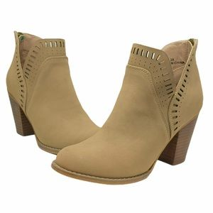 Steve Madden Tan Suede Ankle Booties